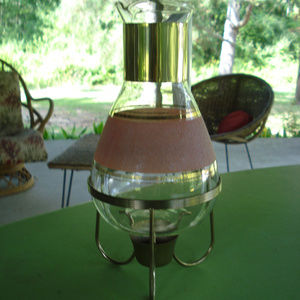 Coffe Carafe w/ warming stand (tea candle warming)